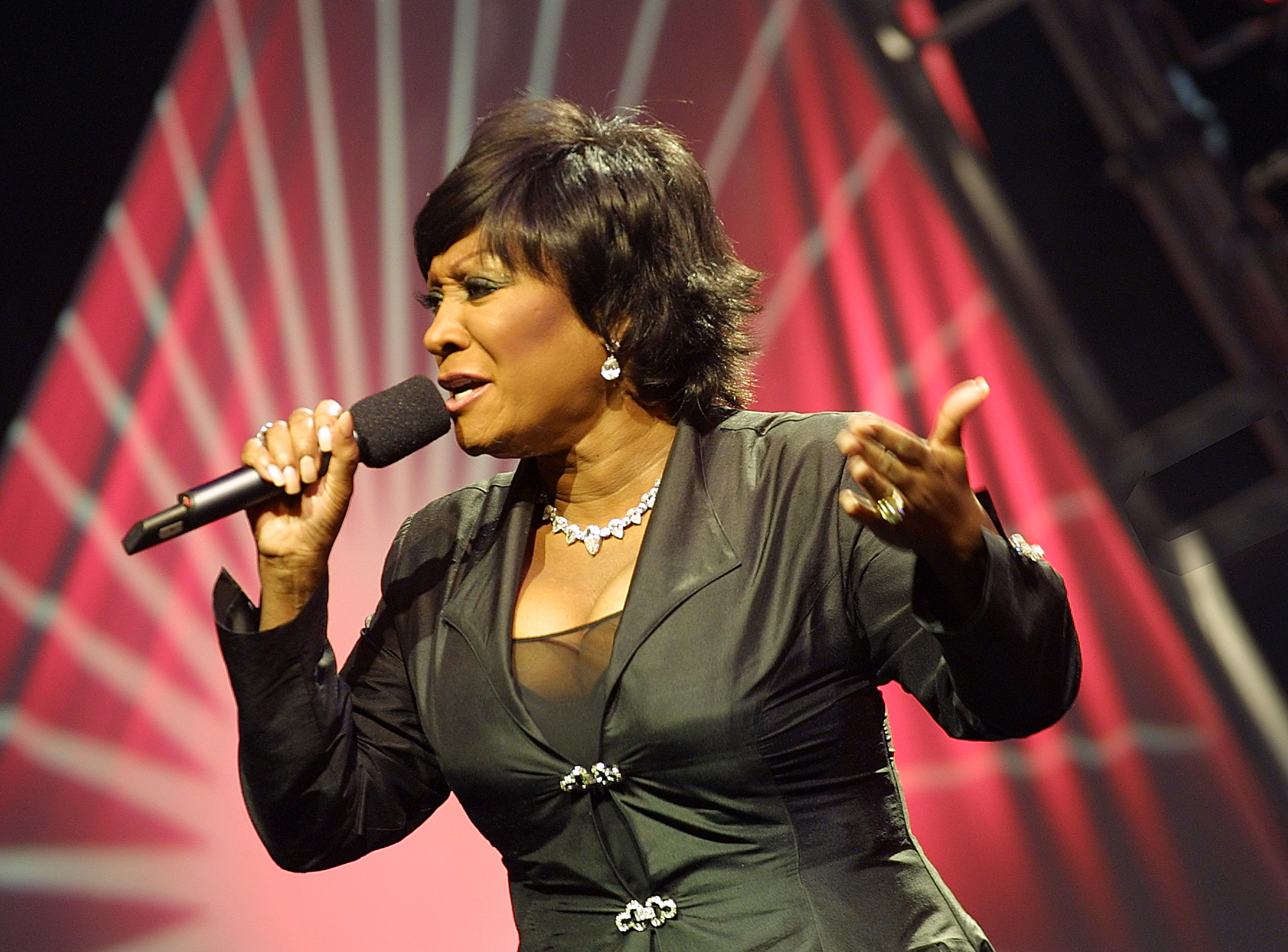 Patti LaBelle performing on-stage