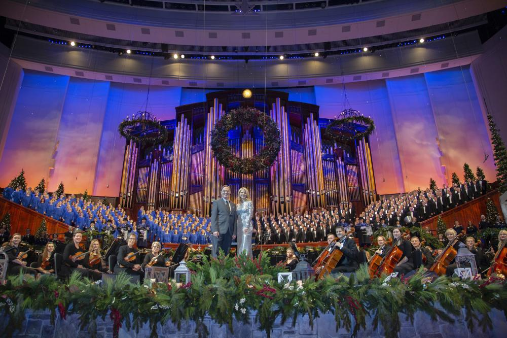 The Tabernacle choir on stage